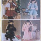 Betsy McCall 7934 18 Inch Doll Winter Holiday Wardrobe Pattern Uncut Coat Dress Tights and More