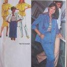 Vintage 80's Simplicity 9446 Slim Skirt Straight Leg Pants Shirt Jacket Pattern Uncut Size 42
