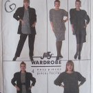 Retro 80s Simplicity 8450 Raglan Sleeve Jacket Loose Top Skirt and Pants Pattern Uncut Size 28W-32W