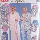 McCall's 3454 Robe Tunic Top Pajama Pants and Shorts Pattern Uncut Size 18W-24W