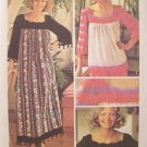 Vintage 70's Simplicity 6318 Crocheted Accent Maxi Dress or Top Sewing Pattern Uncut One Size 8-16