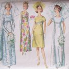 Vintage 60s Simplicity 6352 Empire Waist Bridal Wedding Gown Dress Pattern Size 14 Bust 34