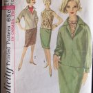 Vintage 60s Simplicity 5108 Straight Skirt Kimono Sleeve Top Roll Collar Tank Pattern Size 12