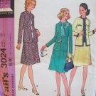 Vintage 70s McCall's 6024 Jacket Skirt Suit Dress Pattern Uncut Size 18 Bust 40