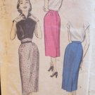 Vintage 50s Advance 6256 Slim Skirt Pencil Pattern High Waist Size 24 Waist