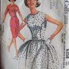 Vintage 60s McCall's 6358 Slim or Full Gathered Skirt Dress Pattern Uncut Size 14 Front Button
