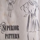 1940's Superior Pattern 6626 Jumper Dress and Blouse Uncut Size 16 Maternity Expansion