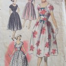 Vintage 50s Advance 5736 Scoop Neck Summer Dress Pattern Full Skirt Size 12 B30