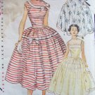 Vintage 50s Simplicity 4662 Full Skirt Evening Dress Pattern Sleeveless Size 12 B30