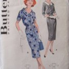 Vintage 50s Butterick 8576 Scoop Neck Slim Spectator Dress Pattern Size 20 B40