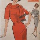 Vintage 60s Advance 3014 Kimono Sleeve Sheath Wiggle Dress and Scarf Pattern Uncut Size 14