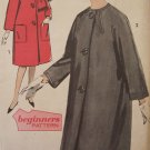 Vintage 60's Advance 3016 Kimono Sleeve Swing Coat and Scarf Pattern Uncut Size 12