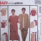 McCall's 9222 Jacket Dress Top Pants and Shorts Pattern Plus Size Uncut Summer Wardrobe