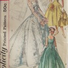 Vintage 50s Simplicity 2066 Empire Sweetheart Neck Bridal Wedding Dress Pattern Uncut Size 14
