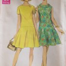 Vintage 60s Simplicity 7598 Dropped Waist Roll Collar Dress Pattern Uncut Size 14