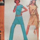 Vintage 70s McCall's 2270 Mini Dress Tunic Slim Pants Pattern Uncut Size 14
