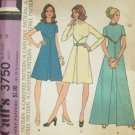 Vintage 70s McCall's 3750 High Waist Stand Up Collar Evening Dress Pattern Uncut Size 14