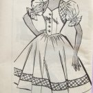 Vintage 60s Pattt-O-Rama 8392 Mail Order Sweetheart Neckline Full Skirt Dress Pattern Size 14