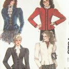 Vintage 80's McCall's Fitted Peplum Jacket Collarless or Notched Collar Uncut Size 16 Bust 38