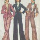 Vintage 70s Simplicity 5955 Collar Jacket Pants Suit Pattern Uncut Size 14