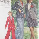 Vintage 70s Simplicity 6103 Notched Collar Jacket Short Skirt Pants Suit Pattern Uncut Size 14