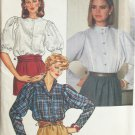 Vintage 80s Butterick 6690 Princess Seam Stand Up Collar Blouse Pattern Uncut Size 14-18