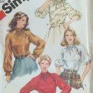 Vintage 80s Simplicity 5645 Asymmetrical Raglan Sleeve Blouse Pattern Ruffled Uncut Size 16