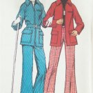 Vintage 70s Simplicity 5985 Ladies Ski Jacket and Pants Belt Pattern Uncut Size 14