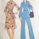 Vintage 70s Simplicity Raglan Sleeve Tunic Top Dress and Pants Pattern Uncut Size 12