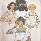Vintage 70s Simplicity 6679 V-Neck or Lace Yoke Blouse Pattern Uncut Size 16 38B