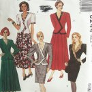 McCall's 6244 Two Piece Suit Dress Jacket Straight or Full Skirt Pattern Uncut Size 12-16
