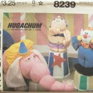 Vintage 80s McCall's 8239 Hugachum Circus Stuffed Toy Pattern Uncut