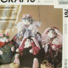 McCall's 761 Victorian Cat and Bunny Stuffed Dolls and Clothes Pattern Uncut