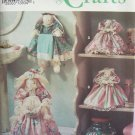 Simplicity 8320 Victorian Dress Bathroom Bunnies Towel Holder Tissue Plunger Cover Pattern Uncut