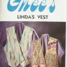 Ghee's 693 Linda's Vest Pattern Uncut Multi Sized Small – Extra Large