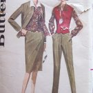 Vintage 60s Butterick 2776 Box Cardigan Jacket Weskit Blouse Straight Skirt and Pants Pattern Uncut