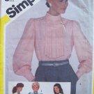 Vintage 80s Simplicity 6083 Pullover Jabot Front Blouse Pattern Uncut Size 16