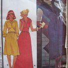 Vintage 70s McCall's 5402 Fitted Midriff Maxi Dress V-Neck Large Collar Uncut Size 14