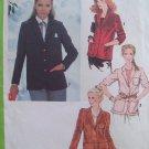 Vintage 70s Simplicity 8974 Notched Collar Blazer Jacket Pattern Uncut Size 14