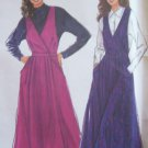 Simplicity 9963 Surplice Jumper Dress Pattern Pleated Skirt Uncut Size 8-20