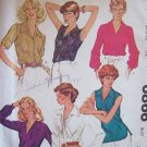 Vintage 70s McCall's 6866 V-Neck Pointed Collar Blouse Pattern Sleeveless or Long Uncut Size 12