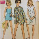 Vintage Simplicity 7697 Beach Jacket Bathing Suit Pattern Uncut Size 14