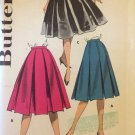 Vintage 50's Butterick 8793 Box Pleat Trapeze Skirt Pattern Size 26 Waist Uncut