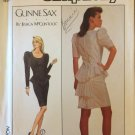 Vintage 80's Simplicity Gunne Sax Peplum Cocktail Dress Pattern Uncut Size 14-18 Jessica Mclintok