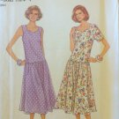 Simplicity 8868 Dropped Waist Pullover Dress Pattern Uncut Size S-XL