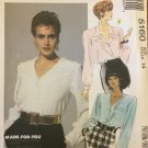 McCall's 5160 Dressy Long Sleeve Blouse Pattern Uncut Size 14