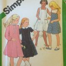 Vintage 80's Simplicity 9935 Girl's Party Dress Sailor Collar Sleeveless Long Sleeve Uncut Size 12