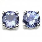 Windsor Sterling SS ROUND TANZANITE STUDS - 5MM