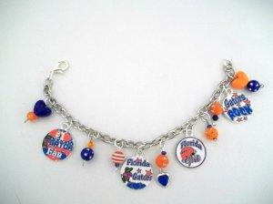 Handmade Florida Gators-Inspired Charm Bracelet