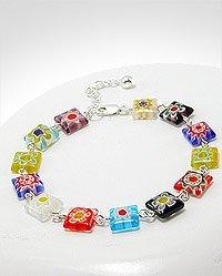 colored glass bracelet